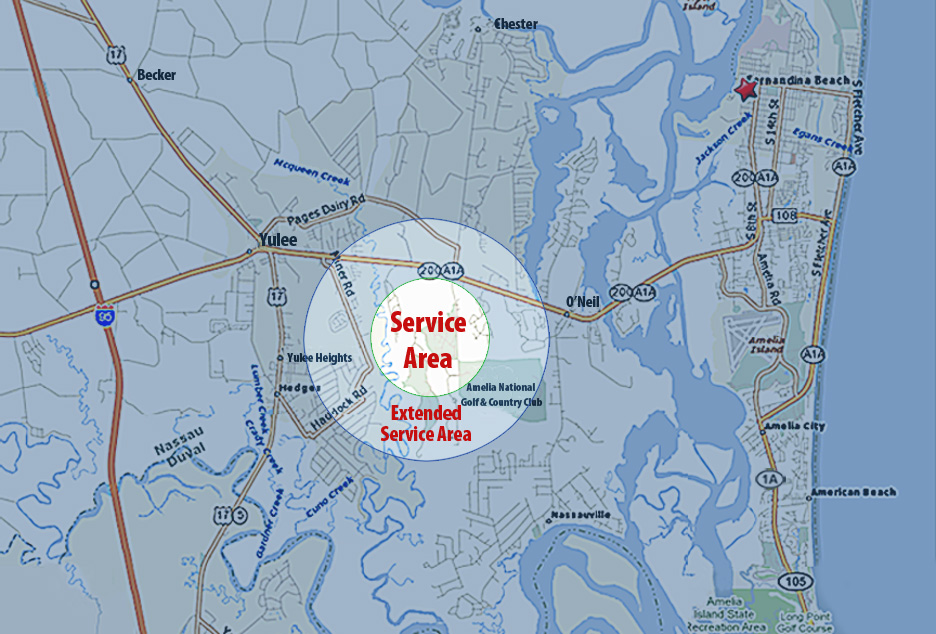 service area map skinnie vinnie lawn care